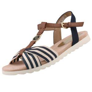 TOM TAILOR Damen Sandalen Blau/Beige, Schuhgröße:EUR 41