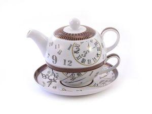 """Tea for one Set """"Ben"""" Porzellan, 4-teilig Kanne: 0,6 l, Tasse: 0,2 l"""