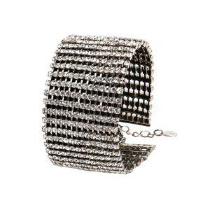 Irina Damen Schmuck Armband Karabinerverschluss Strass Gliederarmband  835246, Farbe: Silber