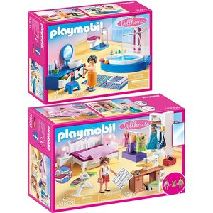 PLAYMOBIL 70208 70211 Dollhouse 2er Set Schlafzimm