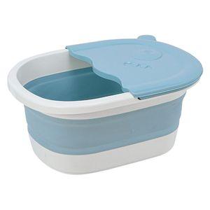 Klappbares Fußbecken Mit Kieselmassage Füße Soaker Massage Tubfoot Care Blau Farbe Blau