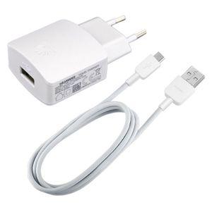 Original Huawei Ladegeröt für P10 Plus / P10 lite / P9 lite / Ascend P8 lite / P8 / P7 / P7 mini HW-050100E2WW + Datenkabel in Weiß Weiss 2.0 USB Datenkabel Netzteil 1A Ampere 1000 mAh Ladekabel MicroUSB Bulk verpackt + gratis Emiro® Bildschirm Reinigungspad