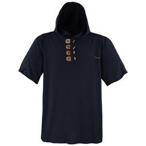 LAVECCHIA Herren Kapuzen-Shirt Schwarz Große Größen, Größe:4XL