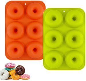 Silikon-Donut-Form, 2er-Set Silikon-Donut-Backform, Antihaft-Silikonform-Geschirrspüler, Backofen, Mikrowelle, Gefrierschrank