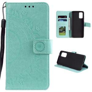 Hülle für Xiaomi Redmi Note 10/Note 10S Handyhülle Flip Case Cover Mandala Grün