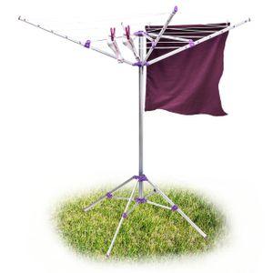 relaxdays Wäschespinne 19 m Leine mit Standfuß