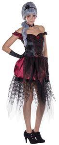 Damen Kostüm Prinzessin Vampirin Hexe Karneval Halloween Gr.36