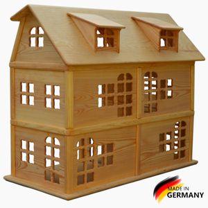 Puppenhaus aus Kiefern Holz,6 Zimmer, Handgemacht,Dollhouse, Montessori, Waldorf