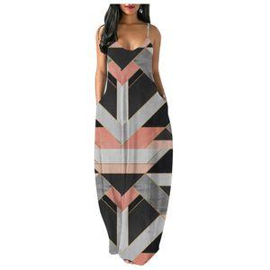 Mode Frauen Casual Plus Size Print V-Ausschnitt Taschen Kurzarm Langes Kleid Größe:XXL,Farbe:Schwarz