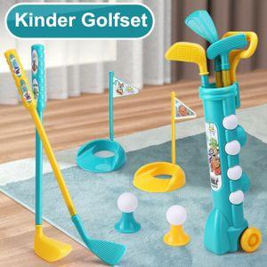 Melario Kinder Golfschläger Set Golfball Spiel Spielset Sportspielzeug Geschenk Frühpädagogisches Indoor und Outdoor Übungsspielzeug Minigolf Set für Kinder