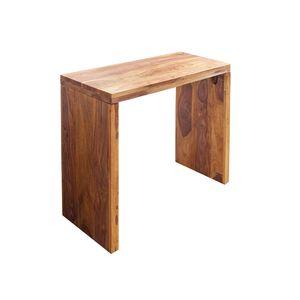 Massiver Sekretär MAKASSAR Konsolentisch Sheesham Honey Finish Schreibtisch 100 cm Konsole Holztisch