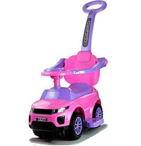COIL Rutschauto mit der Schiebestange 614W Rutscher Babyrutscher Rutschfahrzeug Pink