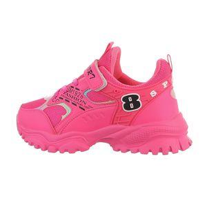 Ital-Design Damen Freizeitschuhe Sneakers Pink Gr.33