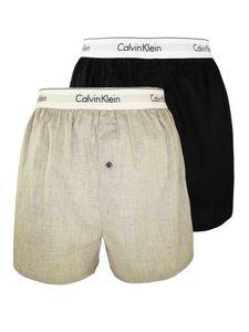 Calvin Klein Herren Slim Fit Boxershorts mit 2er-Packung, Mehrfarbig M