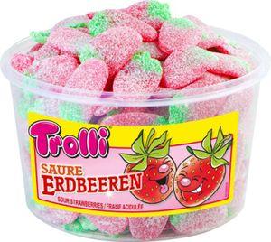 Trolli Saure Erdbeeren Saure gezuckerte Erdbeerfruchtgummis 1200g