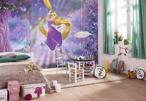 "Komar Fototapete ""Rapunzel"" , lila/blau, 368 x 254 cm"