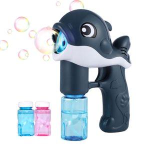 2x Delfin Seifenblasenpistole Musikalischer Seifenblasenmaschine Seifenblasen Kinder Bubbles +4x Seifenblasenwasser