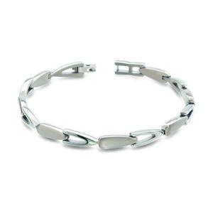 Boccia Damen Armband aus Titan 20cm in silberfarben - 03033-01