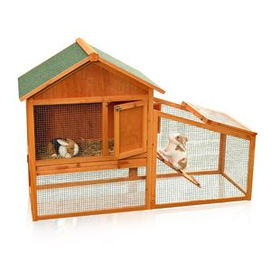 Hasenstall Kaninchenstall Hasen Kaninchen Käfig Kleintierstall Hasenkäfig Holz