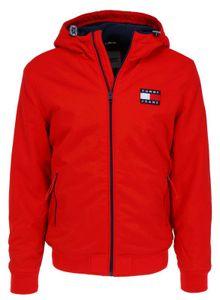 Tommy Jeans Padded Nylon Herren Winterjacke, Größe:XL, Tommy Jeans Farben:Deep Crimson