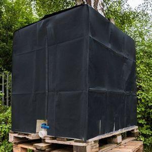 Wasserdichter 210D Oxford Stoffbezug Sonnenschutzhaube für oberirdischen Regenwassertank 1000 Liter IBC Containerfolie