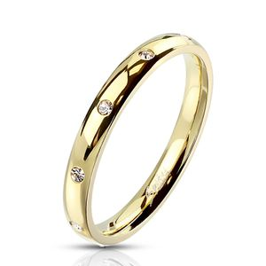 Damen Ring Edelstahl Zirkonia Kristalle Herren Stapelring Bandring Autiga®  59 - Ø 18,95 mm
