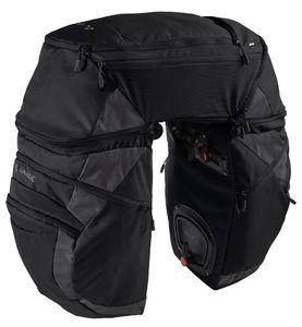 Vaude Karakorum Pro Dreifachtasche Fahrradtasche, Farbe:black