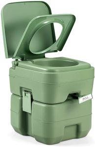 GOPLUS Campingtoilette Reisetoilette tragbare Toilette Outdoor WC mobiles WC 20L