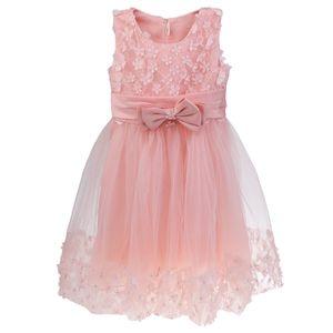 Mädchen Tulle Blume Prinzessin Brautkleid für Kleinkind und Baby Mädchen 150cm rosa Größe 150cm Farbe Rosa