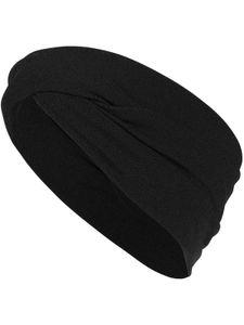 Haarband oder Stirnband in 16 verschiedenen Unifarben Turban, Kopfgröße:Einheitsgröße, Farben:schwarz