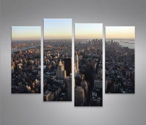 Bilder auf Leinwand Nyc 4er New York Kunstdruck XXL Bild Poster Leinwandbilder Wandbilder
