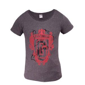 Harry Potter Gryffindor Damen T-Shirt Grau -  Größe S