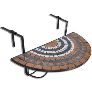beraes Balkonhängetisch Terracotta und Weiß Mosaik