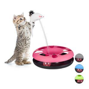 relaxdays Katzenspielzeug mit Maus