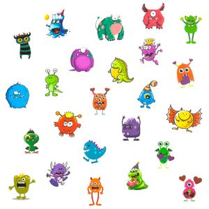 Oblique Unique Temporäre Klebetattoos Kinder Tattoo Set - 24 Monster Motive