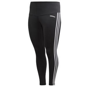 adidas Leggings 7/8 für Damen in Übergrößen schwarz 3 Streifen, Farbe:Schwarz, Damen Größen:XXL