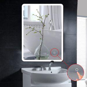 Wandspiegel LED Badspiegel Lichtspiegel Kosmetikspiegel 80*60cm Berührungsschalter