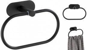 Turbo-Loc® Edelstahl Handtuchring Orea Black Matt