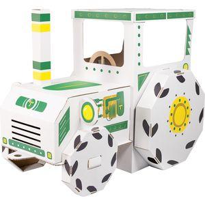 "Small Foot 10016 Spielhaus ""Traktor aus Bastelkarton, weiß (1 Stück)"