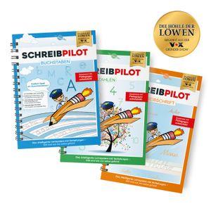 Schreibpilot Heft Buchstaben, Zahlen & Schreibschrift mit Bleistift/Radiergummi - DIN-A4
