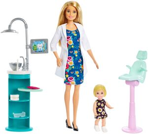 Barbie Zahnärztin-Puppe (blond) und Spielset