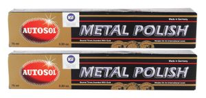 2x AUTOSOL Metal Polish Edel Chromglanz Metall Politur Chrompolitur 75 ml