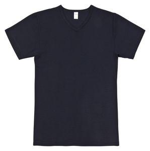 Ammann Herren T-Shirt mit V-Ausschnitt mit feinem Ringel