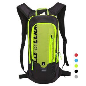 Fahrradrucksack Skirucksack klein für Damen & Herren 6L Ultraleicht wasserdicht mit Trinksystem für Trinkblase bis 2L - Ideale zum Skifahren   Radsport   Camping schwarz rot gelb blau