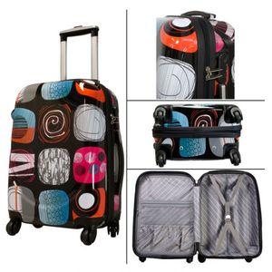 Hartschalenkoffer Set 2tlg. Poly Koffer RIAD Reisekoffer Trolley Boardcase