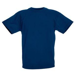 Fruit of the Loom Kinder T-Shirt BC4731 (128) (Marineblau)