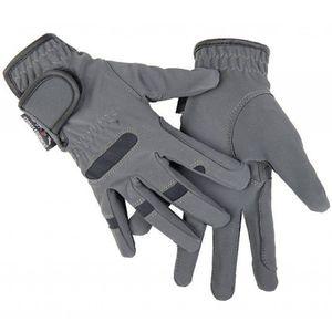 HKM Reithandschuhe -Gentle-, Farbe:9591 grau/schwarz, Größe:L