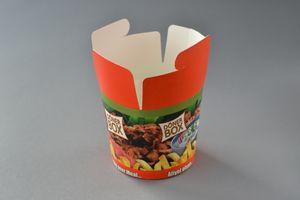 "500 Stück Foodbox mit Motiv ""Guten Appetit"" (26 OZ), 750 ml, (PE-beschichtet), Dönerbox, Snackbox, Kebab, Faltbox, Papier Box"