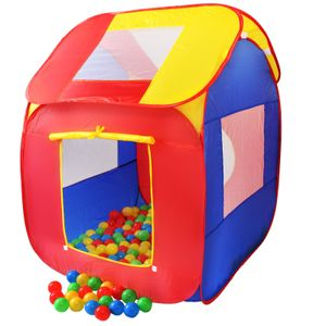 KIDUKU® Spielzelt + 200 Bälle + Tasche Kinderzelt Bällebad Haus Kinderspielzelt