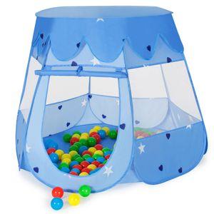 tectake Spielzelt mit 100 Bällen - blau